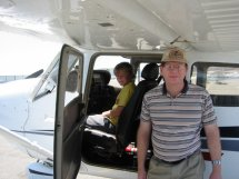 My nephew, Greg, is at the controls.  Parked at French Valley Airport.