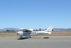 Taxiing prior to taking off from French Valley, California