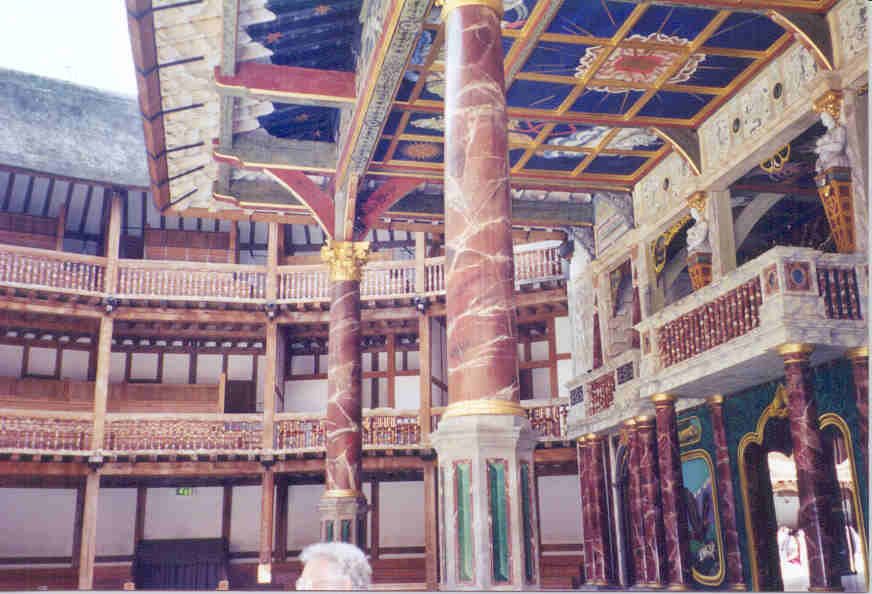 Inside the (recreated) Globe Theater, London, England