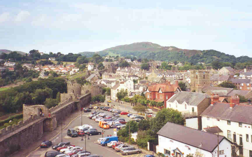 The fortified Norman town of Conwy, Wales