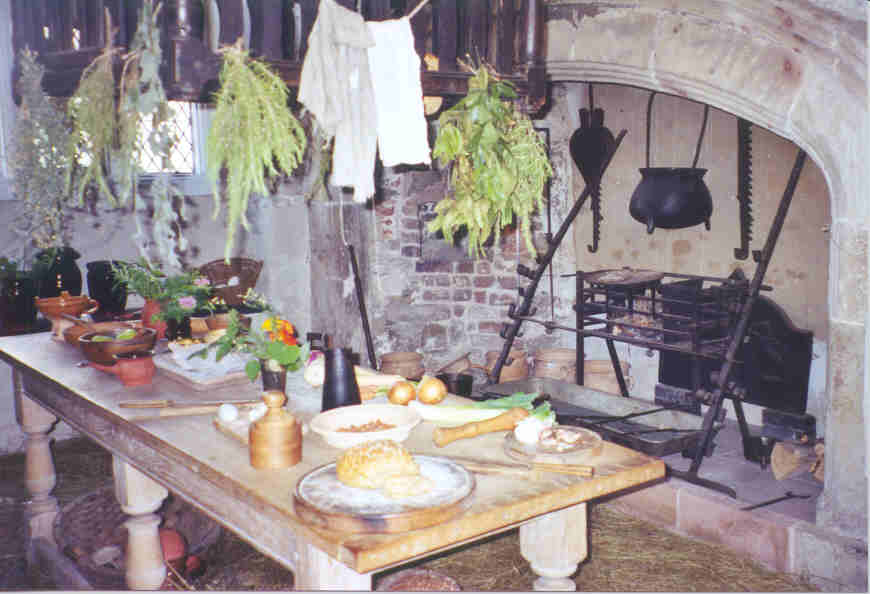 A well-stocked Norman kitchen, Conwy, Wales
