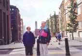 My father and nephew, Greg, in London, near the Millennium Bridge