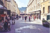 Downtown Bath, England