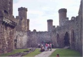 Conwy Castle, one of King Edward I's 'iron ring' of castles, used to subdue the rebellious Welsh