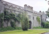 Birr Castle, home of the Earls of Rosse.  This was the coach house, now a science museum.