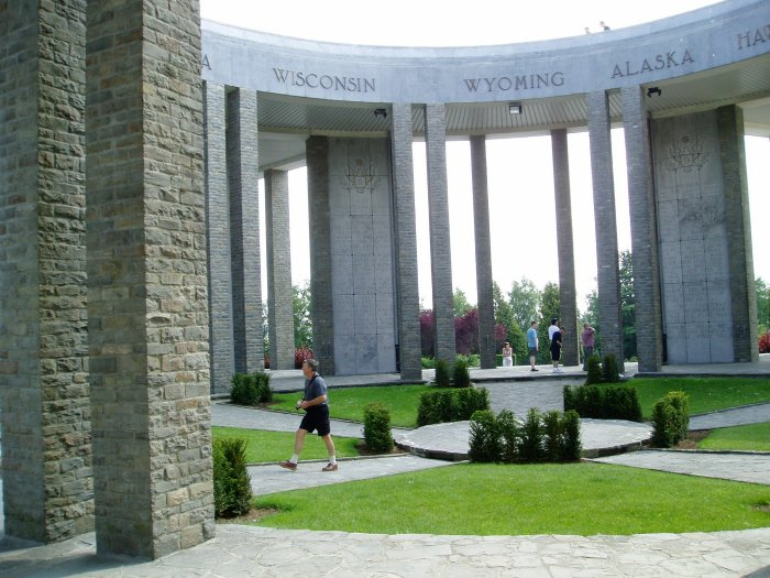 Inside the Mardasson Memorial, Bastogne, Belgium