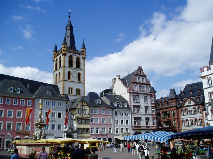 The Hauptmarkt in Trier, Germany