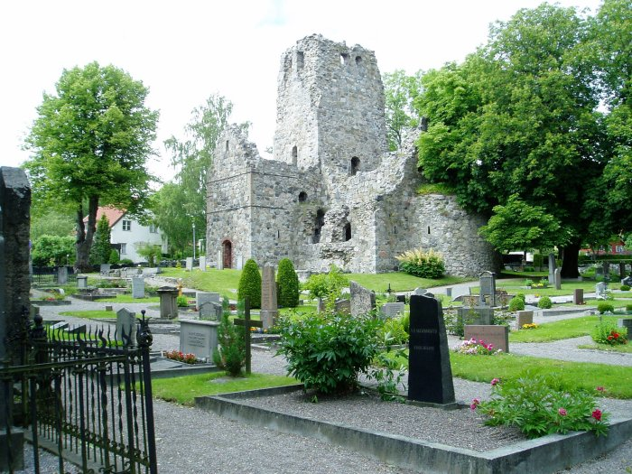 Ruins of St. Olof Church, Sigtuna, 12th century
