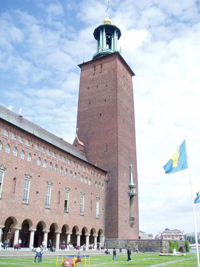 Stockholm City Hall, where the Nobel Prize banquet is held