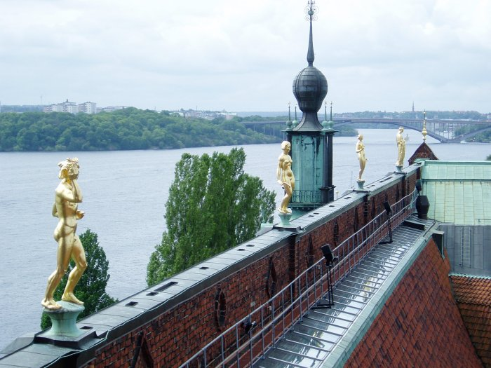 Stockholm City Hall roof