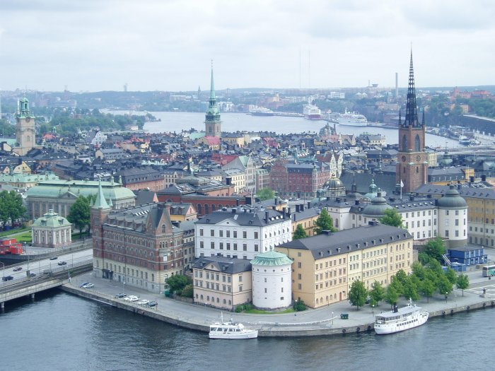 Stockholm, as seen from the bell tower of City Hall