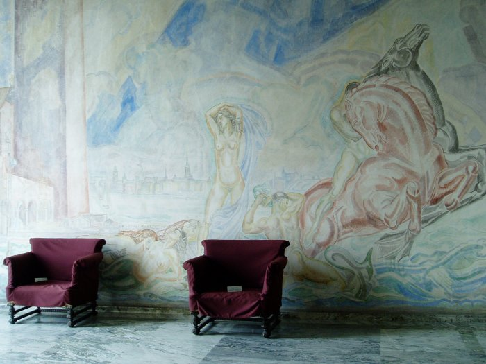 A mural in Stockholm City Hall