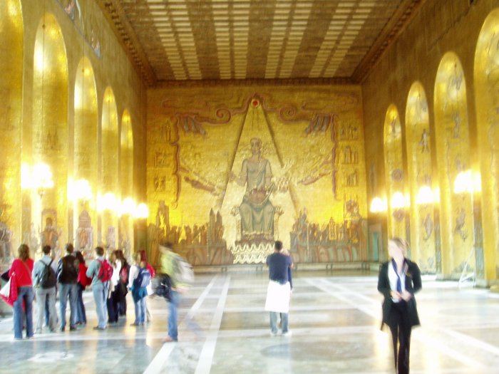 The Golden Room has over 18 million tiles making up the mosaics