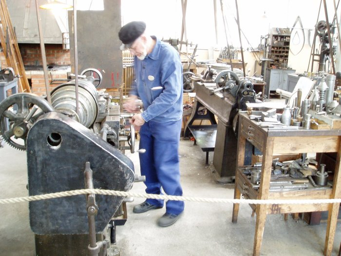 A craftsman at work in Skansen