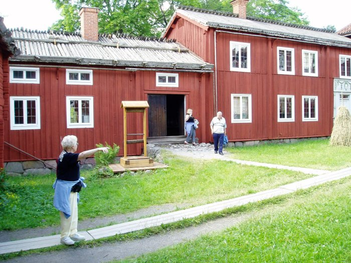 We visit one of the old houses in Skansen