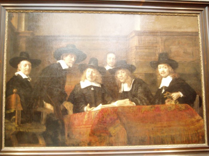 'The syndics of the Amsterdam drapers' guild' by Rembrandt, Rijksmuseum, Amsterdam