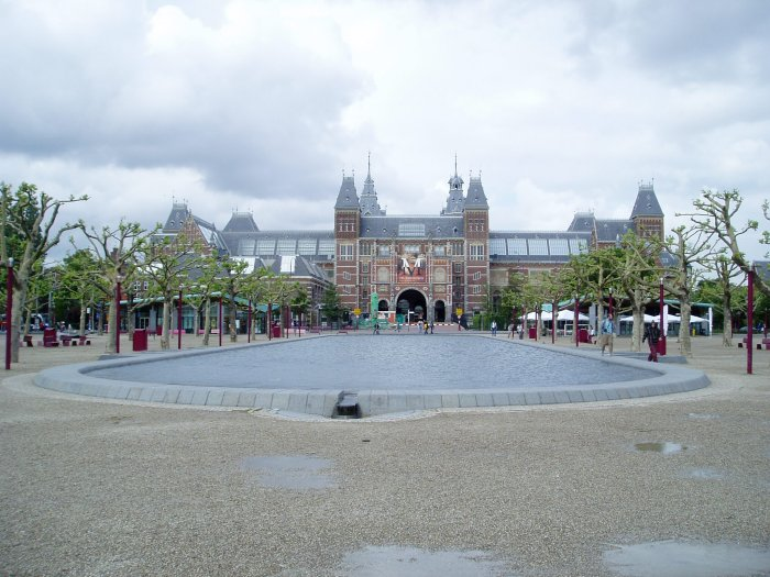 The Museumplein (Museum Square) behind the Rijksmuseum, Amsterdam