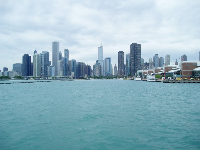Chicago, as seen from Lake Michigan